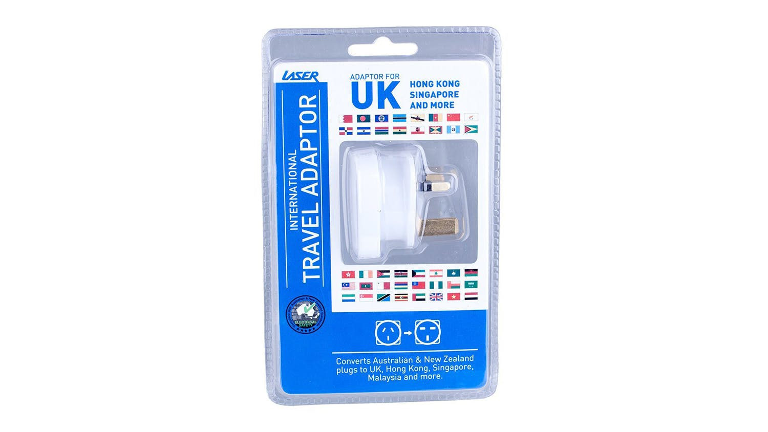 Laser Travel Adapter - UK, HK, Malaysia