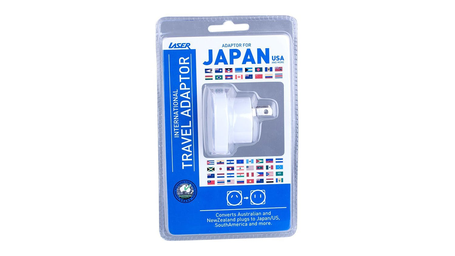 Laser Travel Adapter for USA, China and Japan