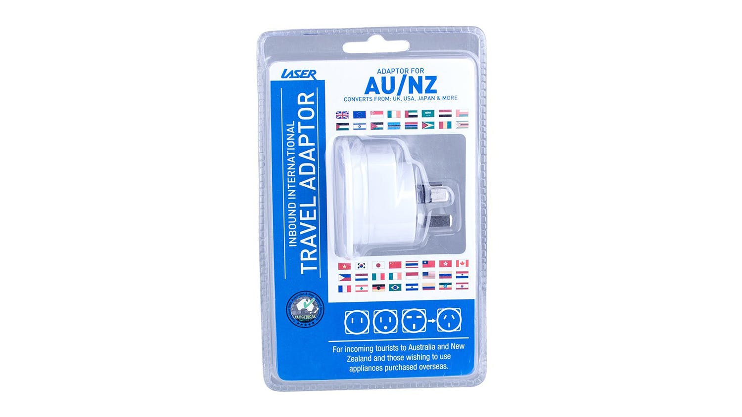 Laser Travel Adapter - Australia and NZ