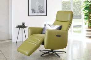 Jakob Electric Leather Recliner Chair by Morgan Furniture