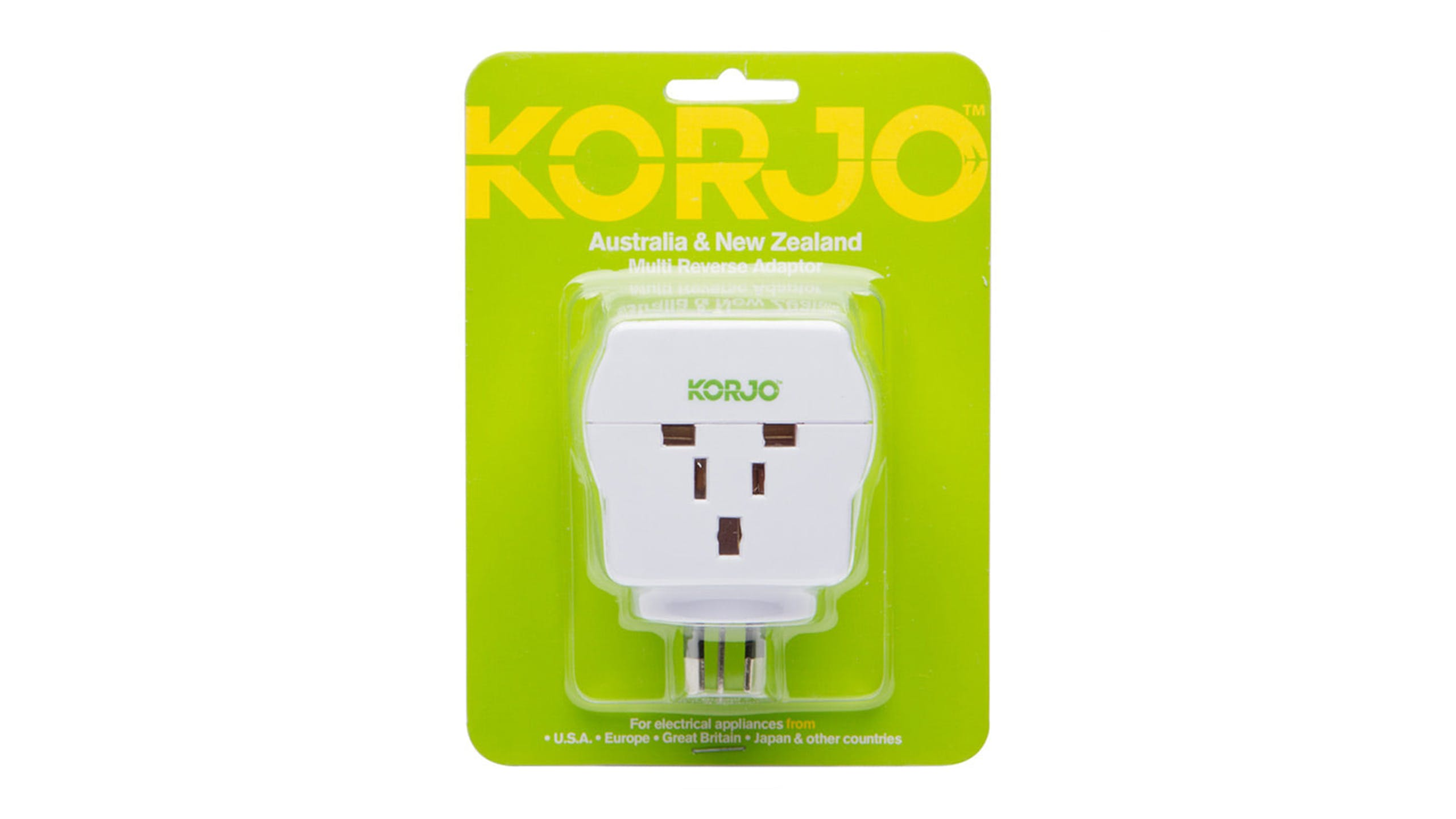 Korjo Multi-Reverse Adapter for New Zealand