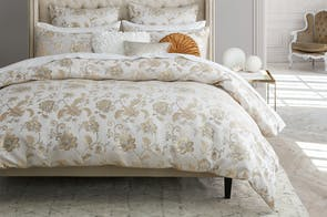 Oriana Champagne Duvet Cover Set by Platinum Collection