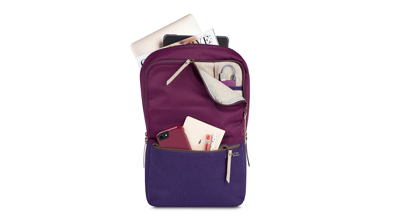 "STM Grace 15"" Laptop Backpack - Dark Purple"