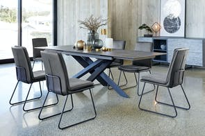 Alumina 7 Piece Extension Dining Suite by Debonaire Furniture