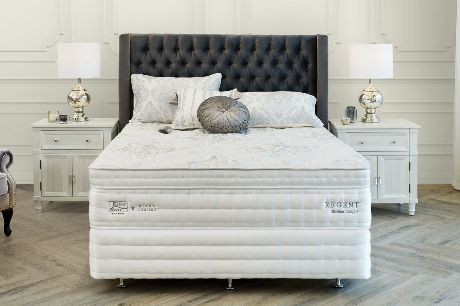 Image of Grand Luxury Regent Medium Super King Bed by King Koil