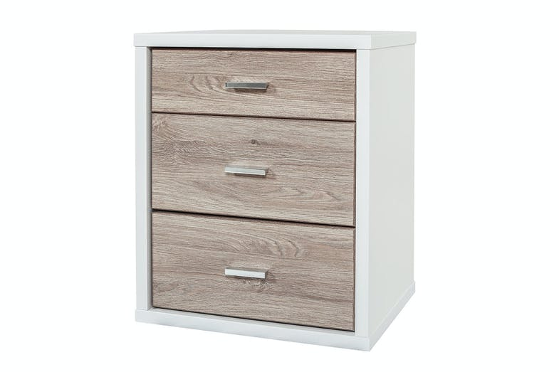 Hero 3 Drawer Bedside Table by Platform 10