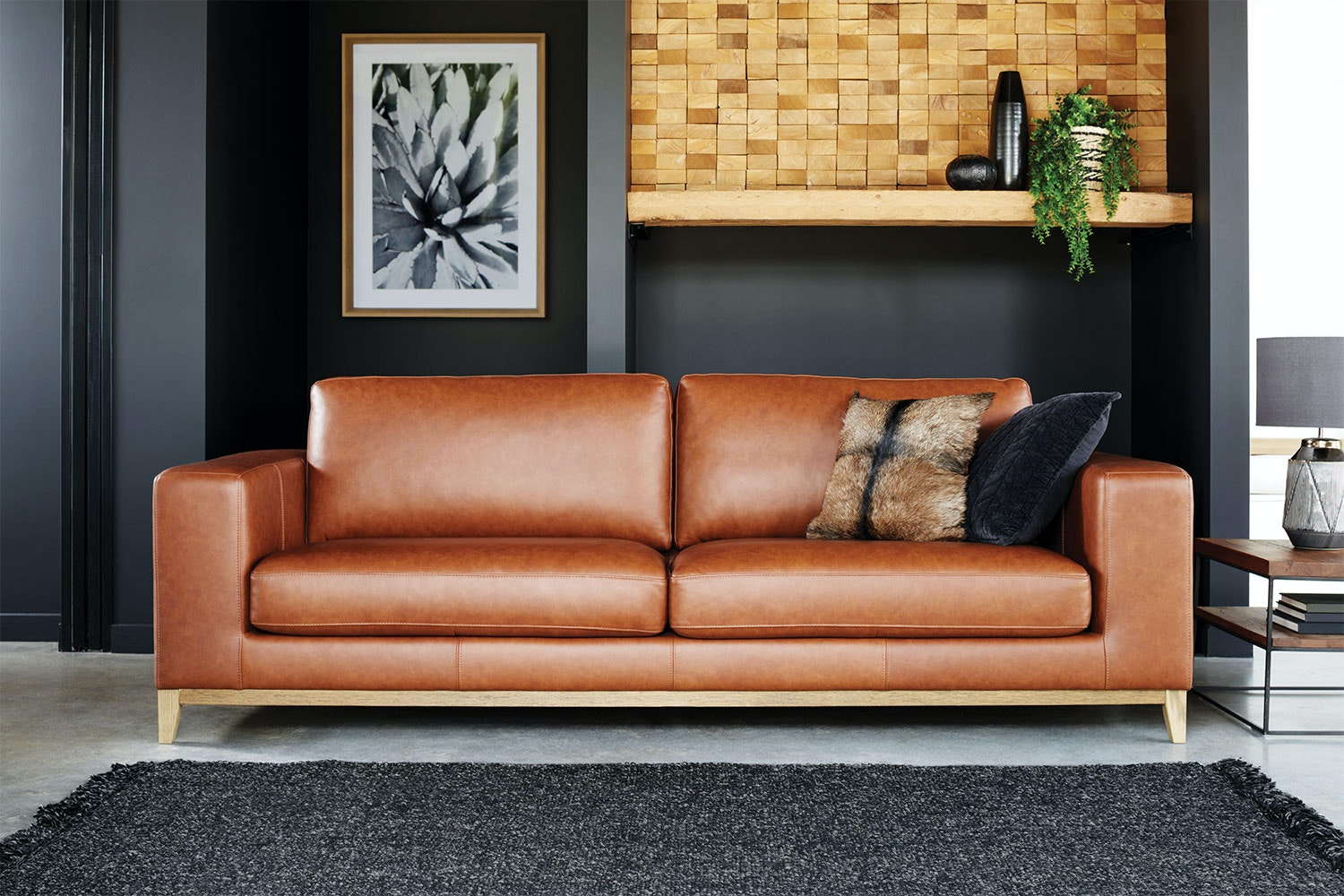 Picture of: Turin 3 5 Seater Leather Sofa Harvey Norman New Zealand