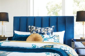 Waterfall Queen Headboard by Nero Furniture - Blue
