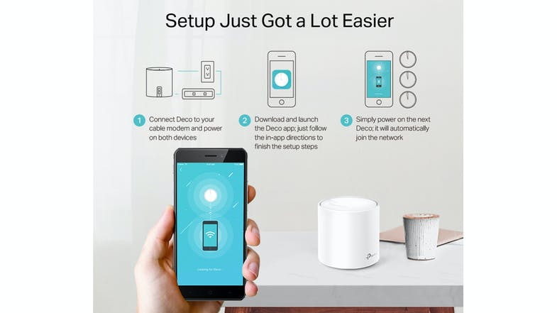 TP-Link AX1800 Deco X20 Whole-Home Mesh WIFI System - 3 Pack