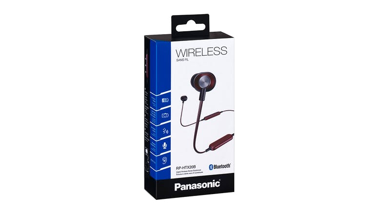 Panasonic RP-HTX20 Retro Wireless In-Ear Headphones - Red