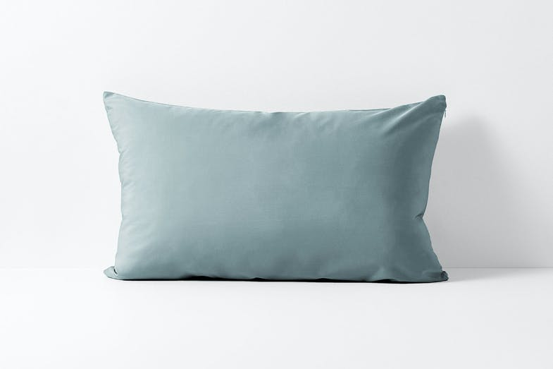 Vintage Organic Cotton Eucalyptus Standard Pillowcase by Aura