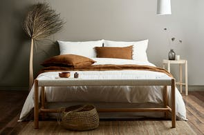 Vintage Organic Cotton White Duvet Cover by Aura