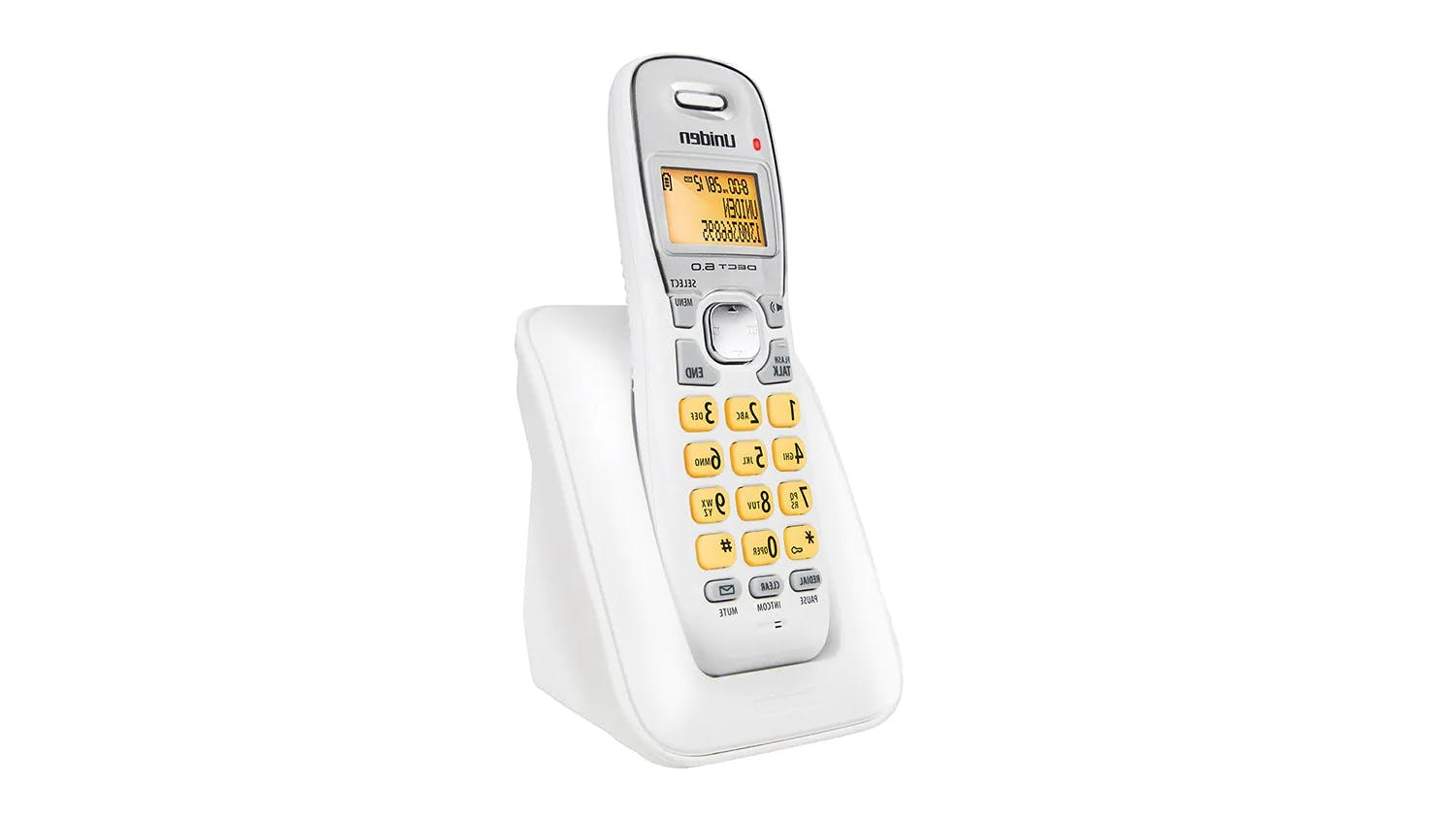 Uniden DECT 1715 Single Handset Cordless Phone - White