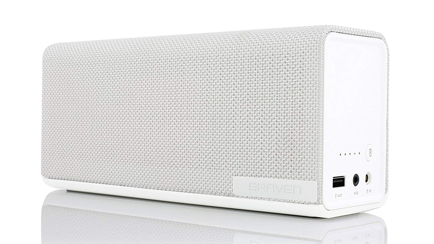 Braven 1100 Portable Bluetooth Speaker - White