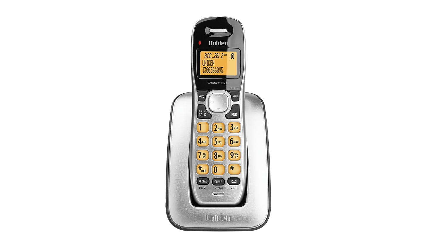Uniden DECT 1715 Single Handset Cordless Phone - Black