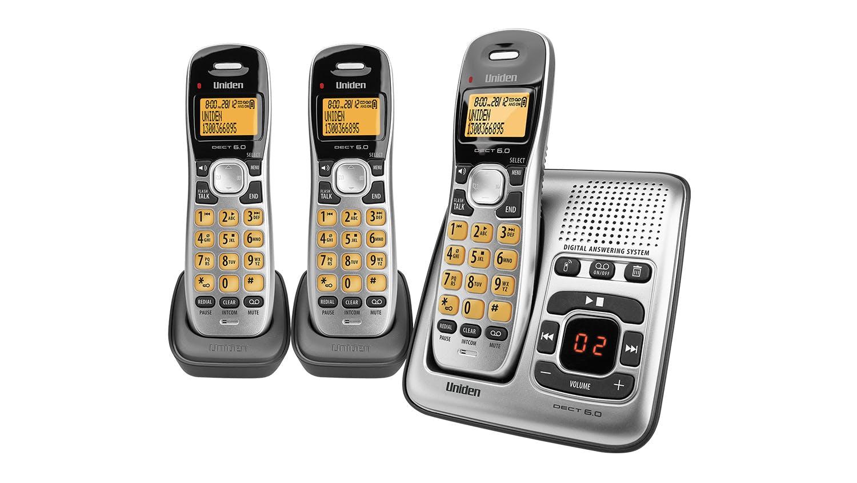 Uniden DECT 1735+2 Triple Handset Cordless Phone  Harvey Norman New Zealand