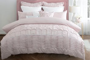 Francesca Blush Duvet Cover Set by Platinum Collection