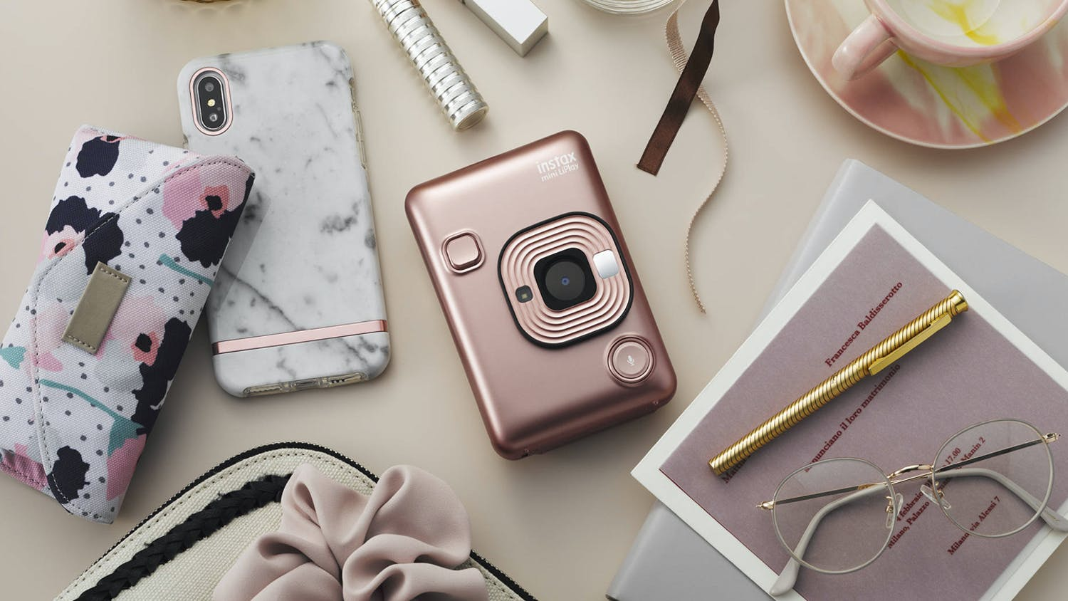 Instax Mini LiPlay - Blush Gold