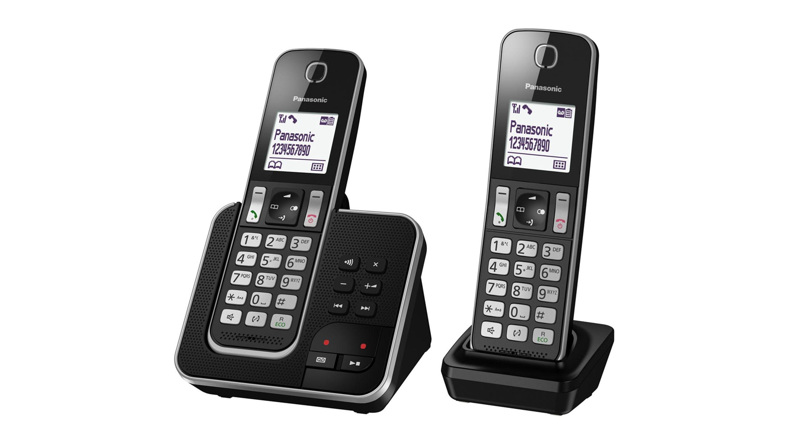 Image of Panasonic KX-TGD322NZB Twin Handset Cordless Phone