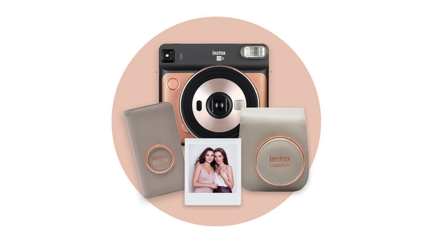 Instax SQ6 Deluxe Gift Pack - Blush Gold
