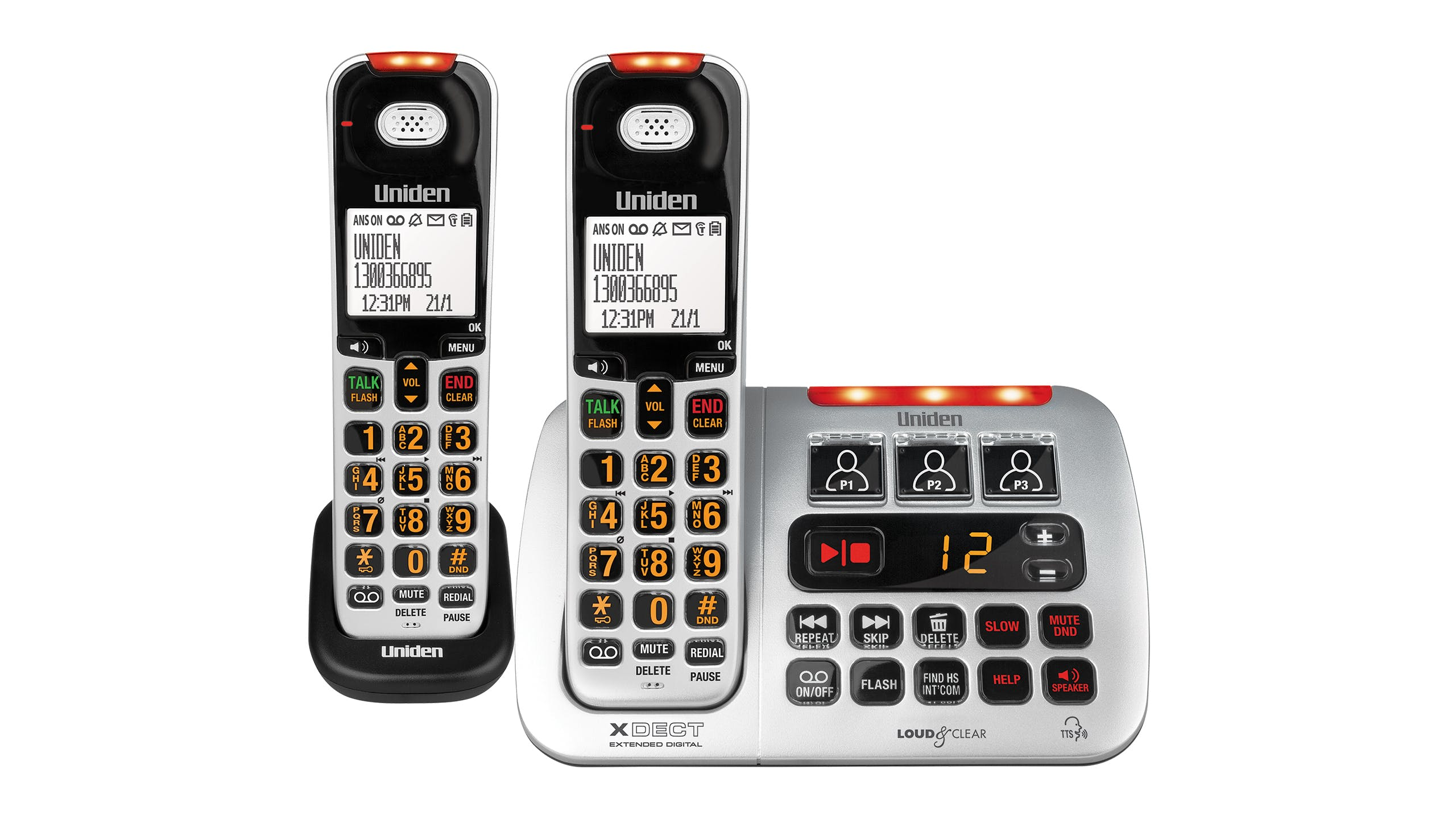 Uniden XSE45+1 Twin Handset Cordless Phone