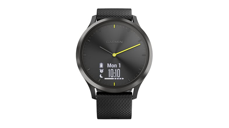 Garmin vivomove HR Sport - with Black Silicone Band L