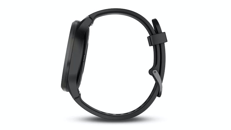 Garmin vivomove HR Sport - Black Silicone Band Large