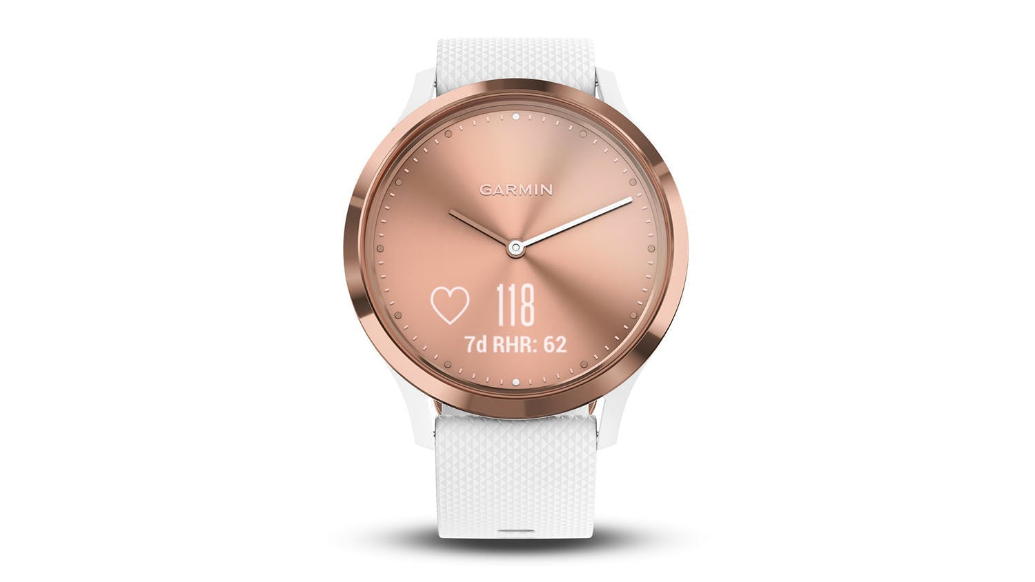 Garmin Vívomove HR Sport - Rose Gold/White