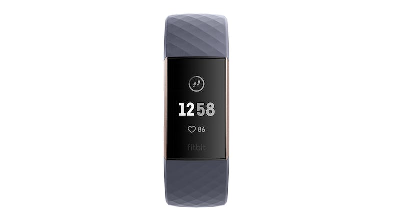 Fitbit Charge 3 - Blue-Grey/Rose-Gold Aluminium