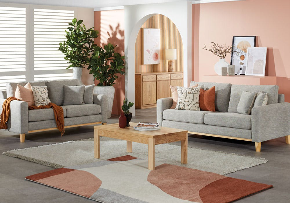 Image of Taylor 2 Piece Fabric Lounge Suite by Evan John Philp