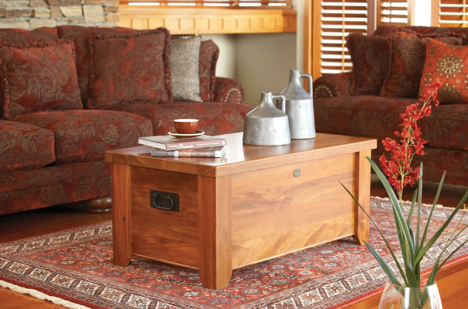 premium selection 079bc a19da Clutha Blanket Box / Coffee Table by Woodpecker Furniture
