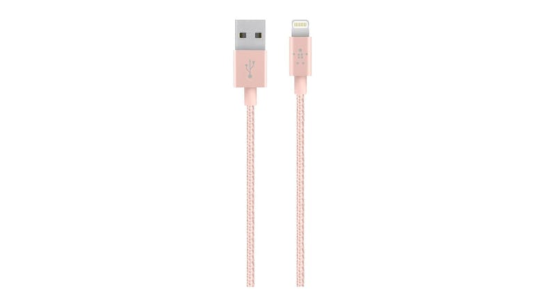 Belkin MIXIT Metallic Lightning to USB Cable 15cm - Rose Gold