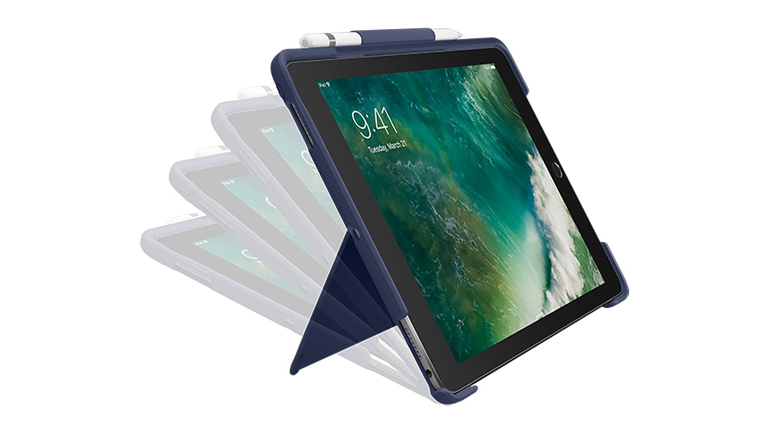 "Logitech Slim Combo Keyboard Folio Case for iPad Pro 10.5"" - Blue"