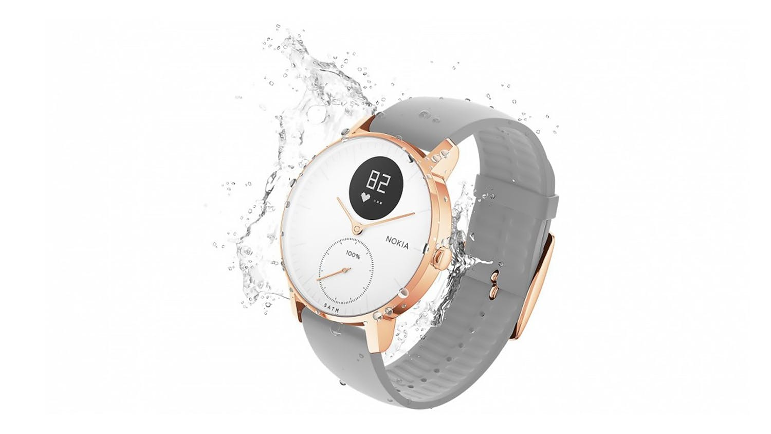 Withings Steel HR Smartwatch 36mm - White/Rose Gold