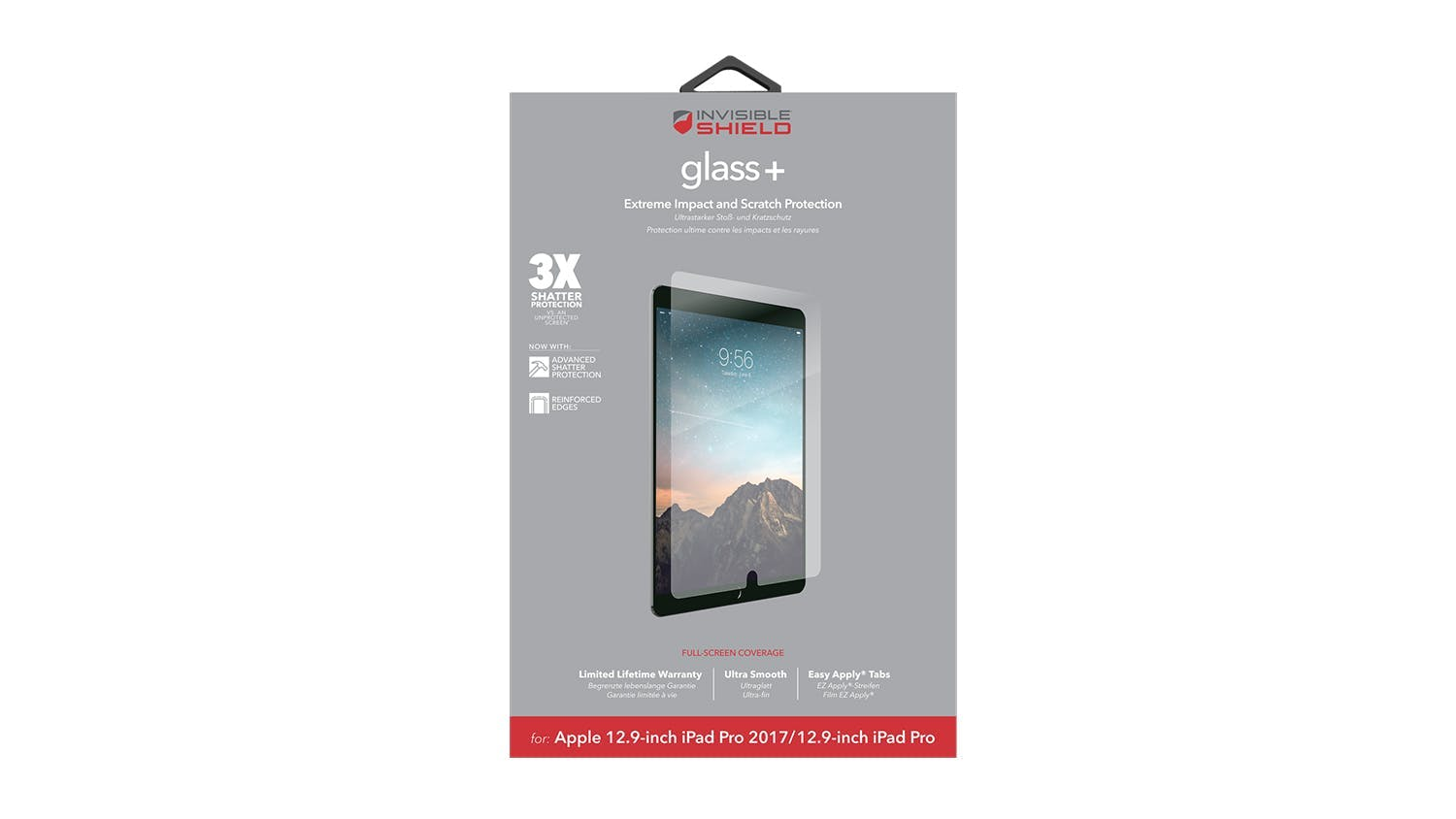 Zagg Invisibleshield Glass+ for iPad Pro 12.9""