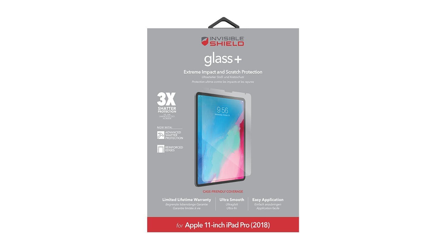 Zagg Invisibleshield Glass+ Screen Protector for iPad Pro 11""