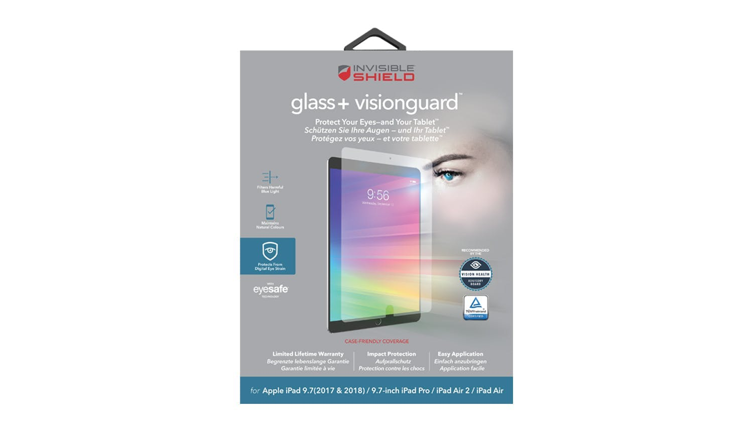 Zagg Invisibleshield Glass+ VisionGuard for iPad Pro 9.7""