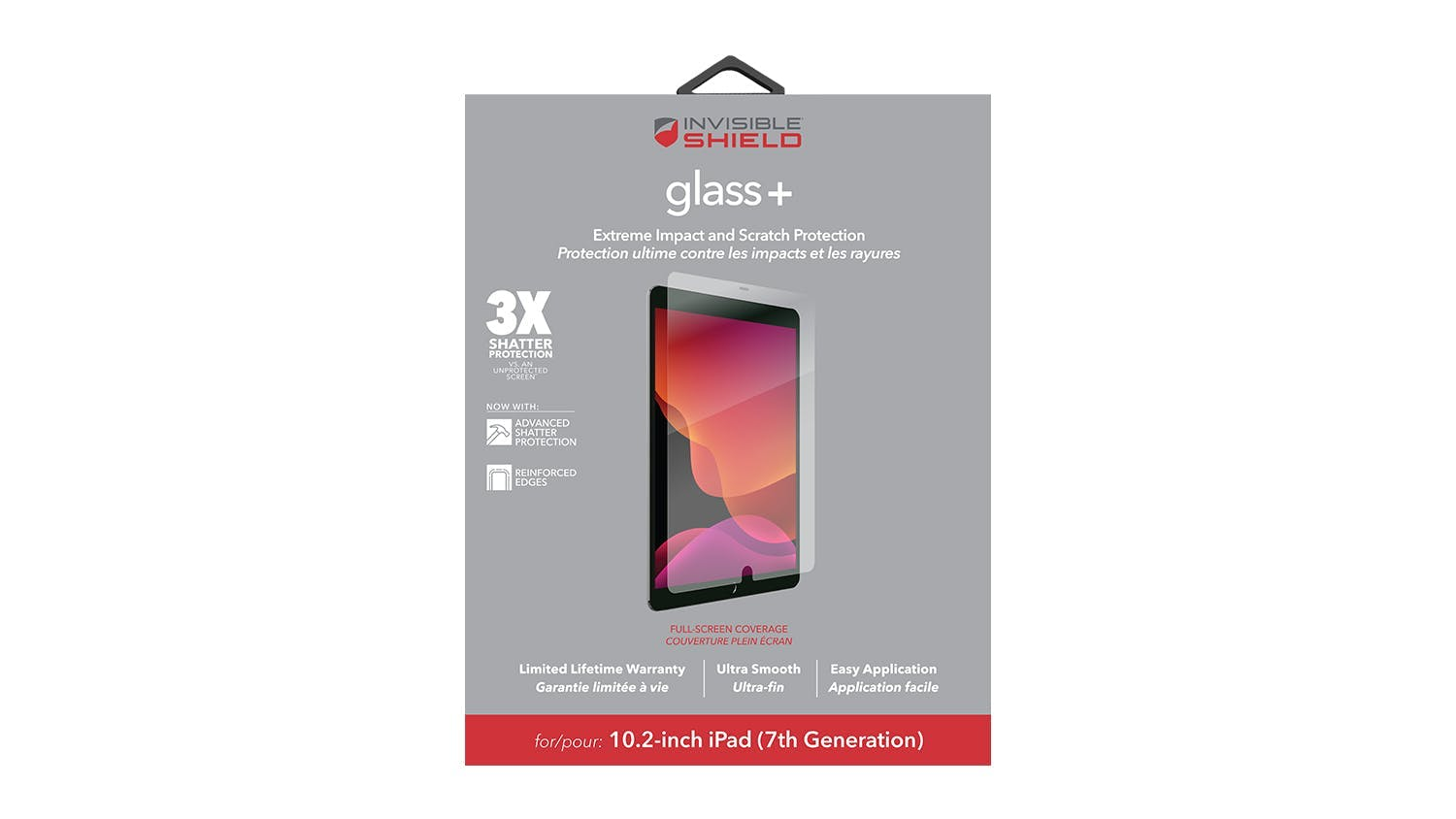 Zagg InvisibleShield Glass+ Screen Protector for iPad 10.2""