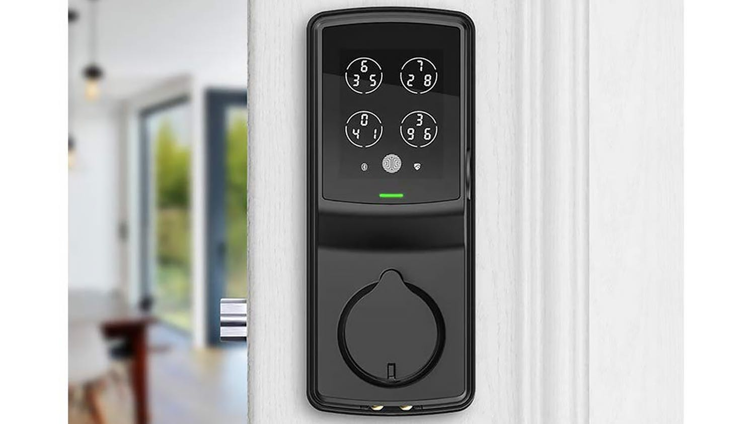 Lockly Secure Plus Deadbolt Door Lock with Fingerprint Access - Matt Black