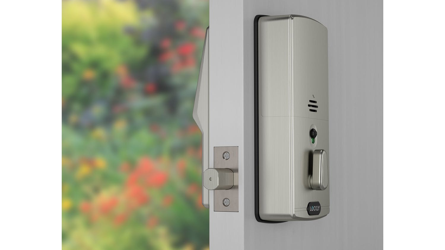 Lockly Secure Plus Deadbolt Door Lock with Fingerprint Access - Satin Nickel