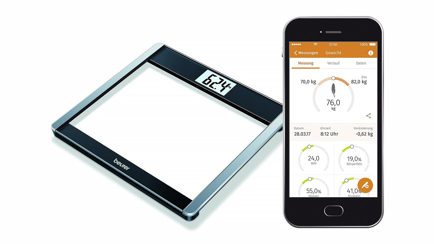 Beurer GS485 Bluetooth Digital Scale