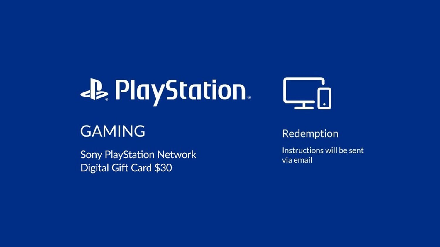 PlayStation $30 Network Card