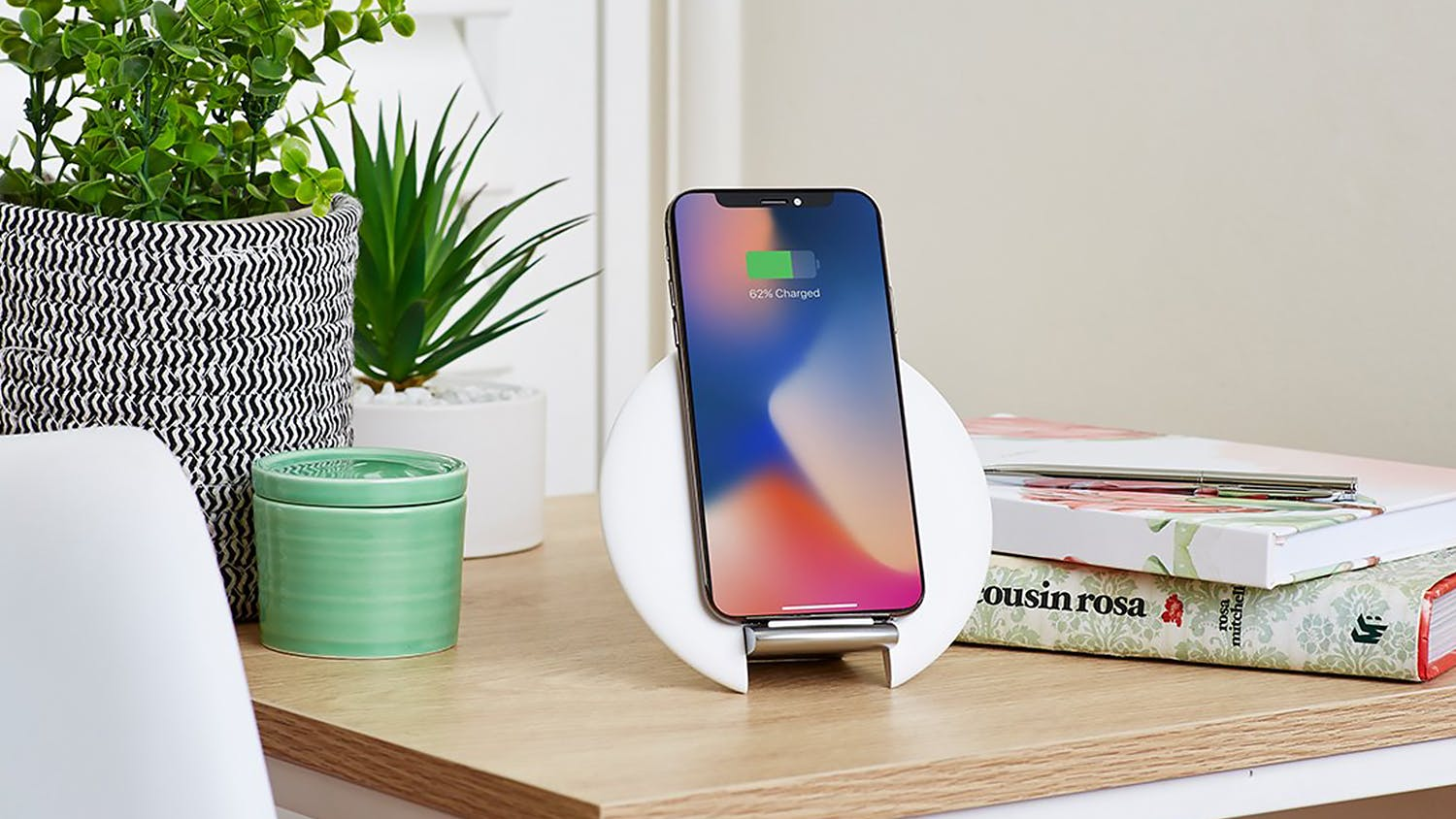 Cygnett Prime 10W Wireless Desk Charger - White