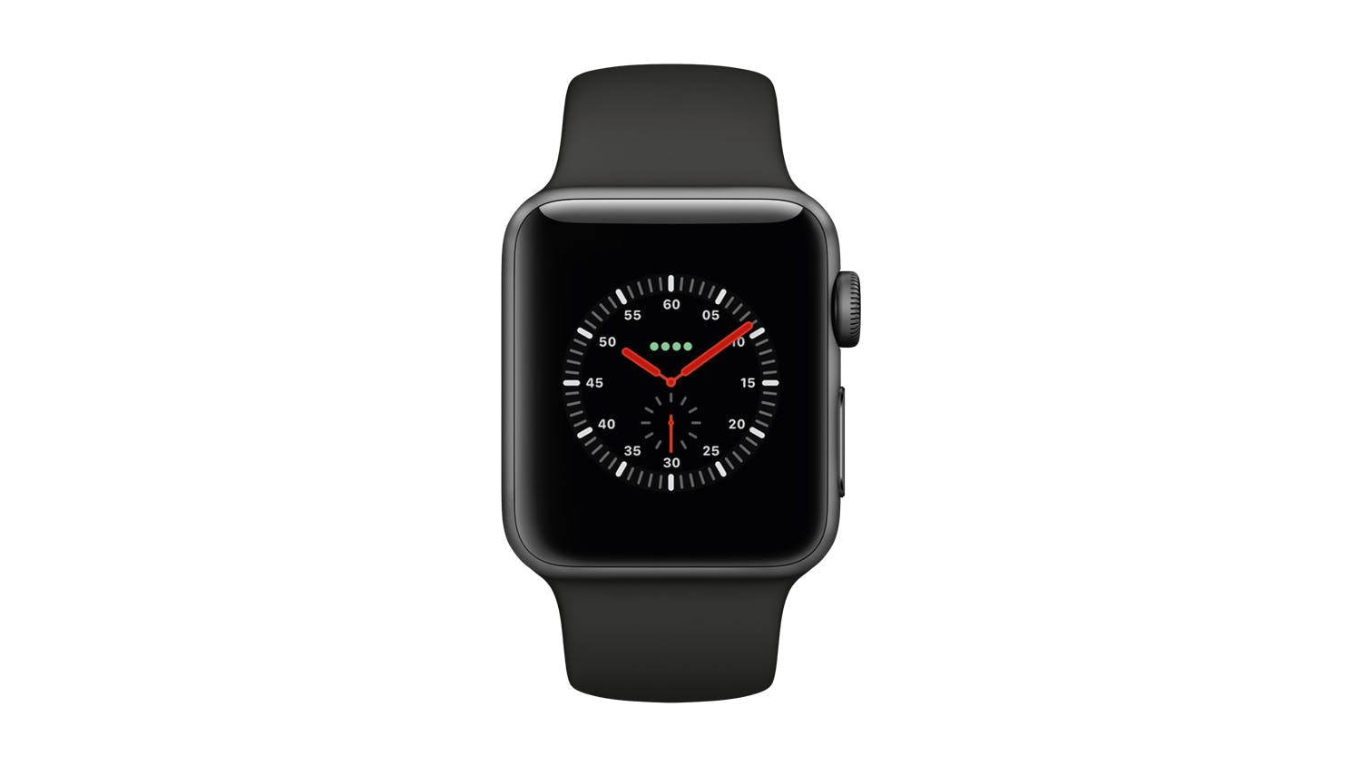 Apple Watch Series 3 (GPS+Cellular) 38mm Space Grey + Black Sport Band
