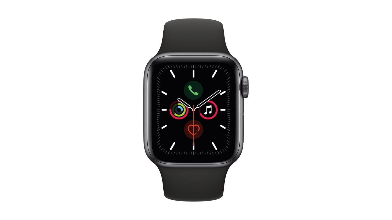 Apple Watch Series 5 (GPS) 40mm Space Grey + Black Sport Band