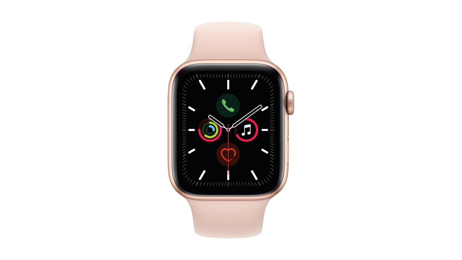 Apple Watch Series 5 (GPS) 44mm Gold + Pink Sport Band