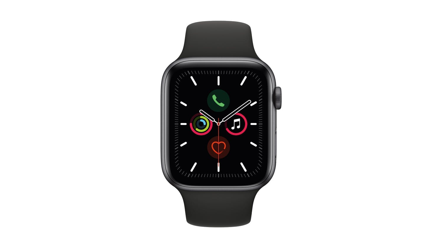 Apple Watch Series 5 (GPS) 44mm Space Grey + Black Sport Band