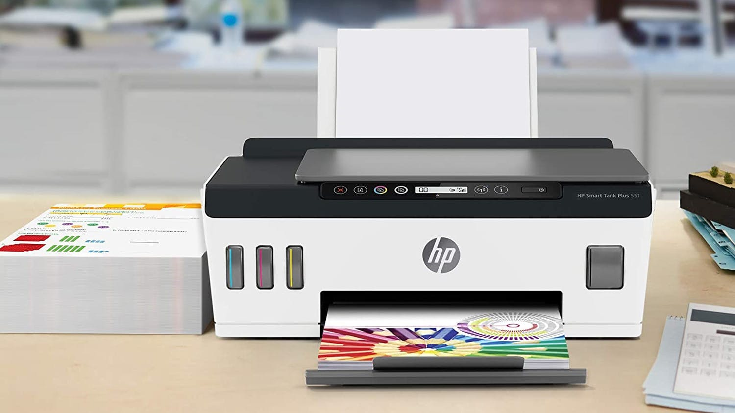 HP Smart Tank Plus 551 All-in-One Printer - White