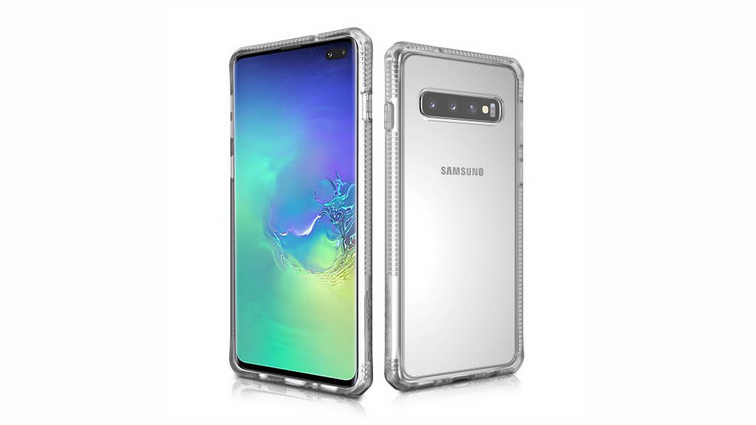 ITSKINS Hybrid MKII Case for Samsung Galaxy S10 Plus - Clear