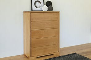 Oakridge 5 Drawer Tallboy by Ezirest Furniture